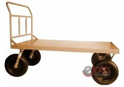 Carrinho Plataforma Piso Aço liso carga 600 kg